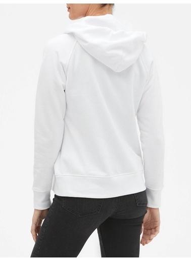 Gap Gap Logo Kapüşonlu Sweatshirt Beyaz
